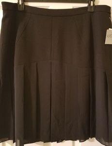Kasper pleated bottom dress skirt size 18